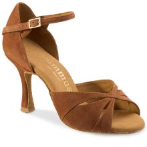 "Chaussures de danse Rummos ""Kamila"" nubuck marron camel"