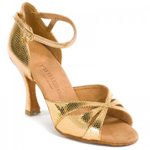 "Chaussures de danse Rummos ""Kamila"" cuir or imitation peau de lézard"