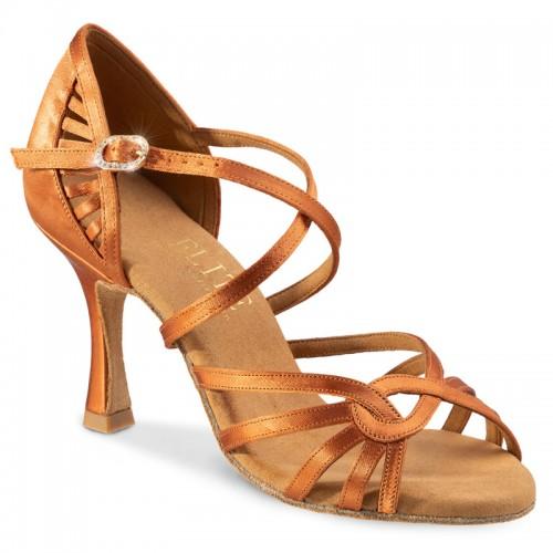 """Chaussures de danseprofessionnelles Elite Rummos """"Eris"""" satin tan"""