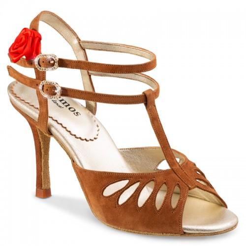 "Chaussures de danse Rummos ""Pasion"" nubuck marron camel"