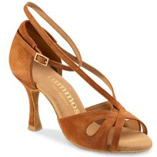"Chaussures de danse Rummos ""Lana"" nubuck marron camel"