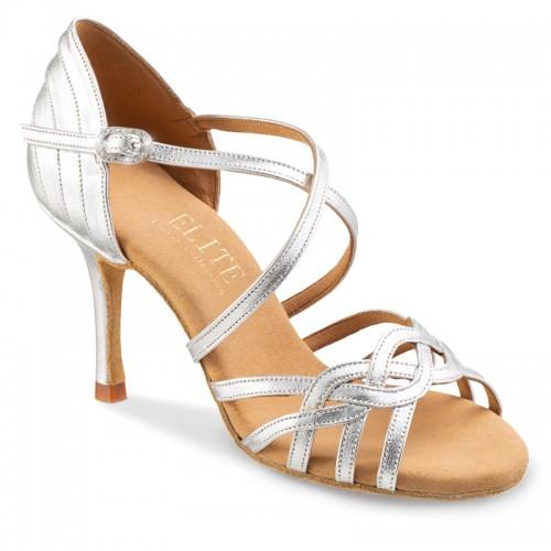 """Chaussures de danse professionnelle Elite Rummos """"Gaia"""" cuir argent"""