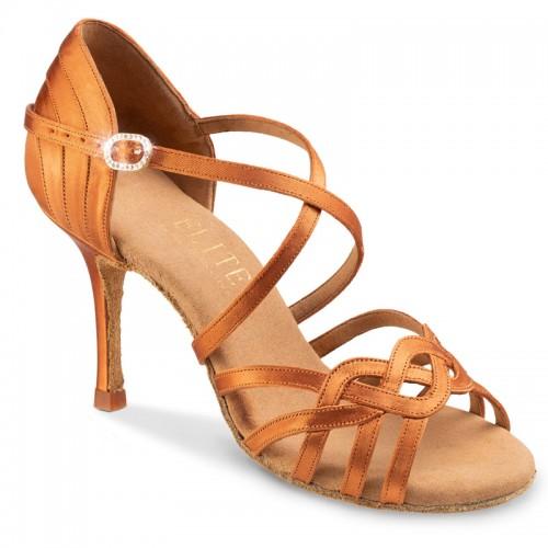 """Chaussures de danse professionnelles Elite Rummos """"Gaia"""" satin tan"""
