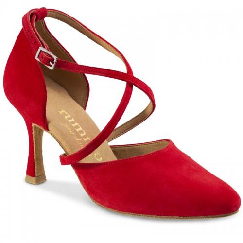 """Chaussures de danse Rummos """"Krista"""" nubuck rouge"""