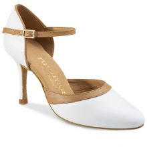 "Chaussures de danse Rummos ""Brenda"" cuir blanc"