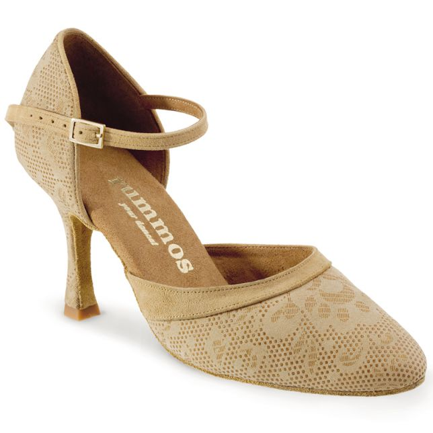 "Chaussures de danse Rummos ""Brenda"" nubuck beige tan nehru"