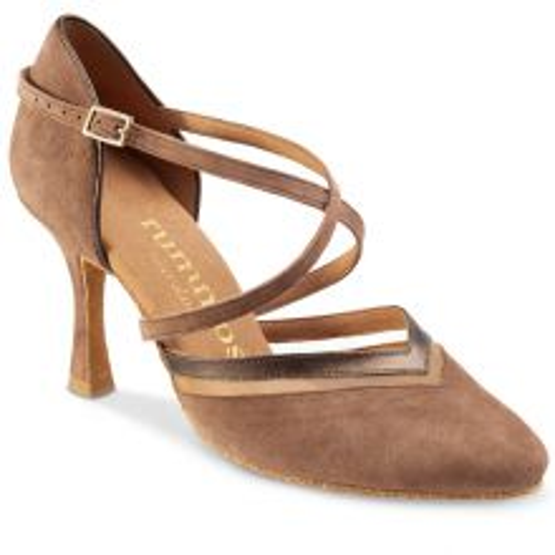 "Chaussures de danse Rummos ""Agata"" nubuck taupe"
