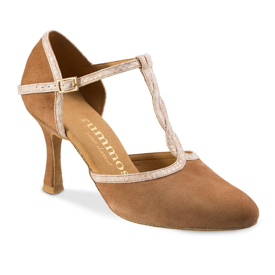 """Chaussures de danse Rummos """"Karen"""" nubuck marron camel"""