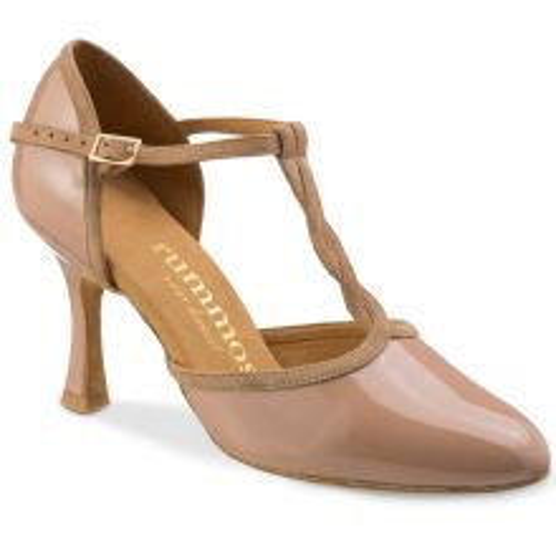 """Chaussures de danse Rummos """"Karen"""" cuir vernis beige"""