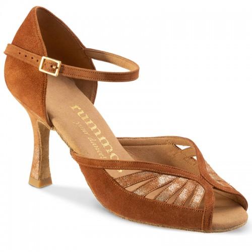 "Chaussures de danse Rummos ""Stella"" nubuck marron"
