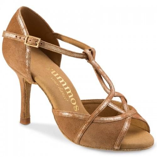 """Chaussures de danse Rummos """"Santigold"""" daim marron camel"""