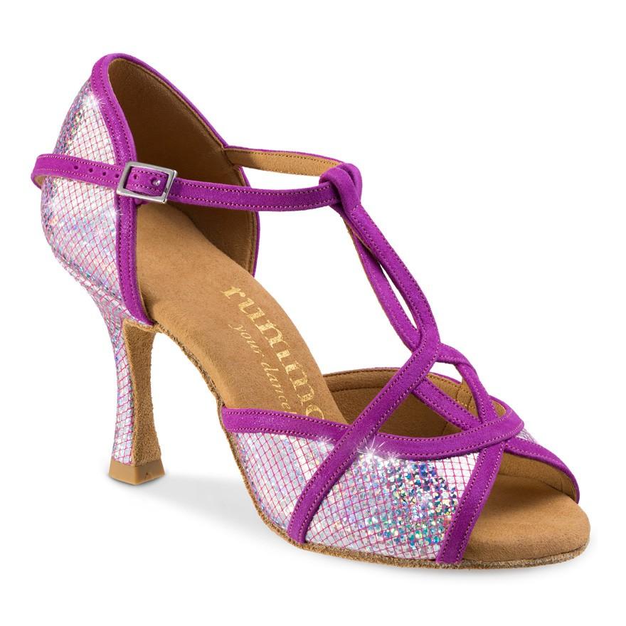 "Chaussures de danse Rummos ""Santigols"" cuir violet effet miroir"
