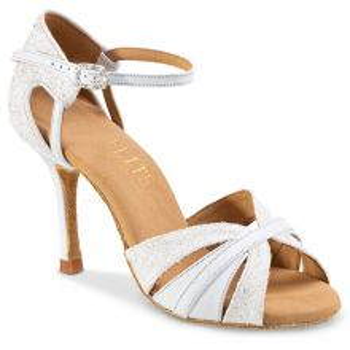 "Chaussures de danse professionnel Eilte Rummos ""Aura"" cuir blanc"