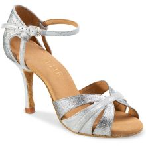 """Chaussures de danse professionnel Rummos """"Aura"""" cuir argent"""