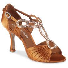 """Chaussures de danse Rummos """"Ingrid"""" sati tan foncé"""