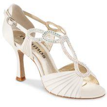 "Chaussures de danse Rummos ""Ingrid"" satin blanc et strass"