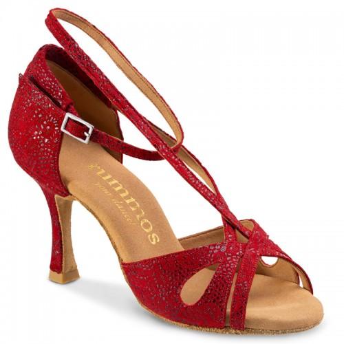 """Chaussures de danse Rummos """"Lana"""" cuir rouge texturé"""