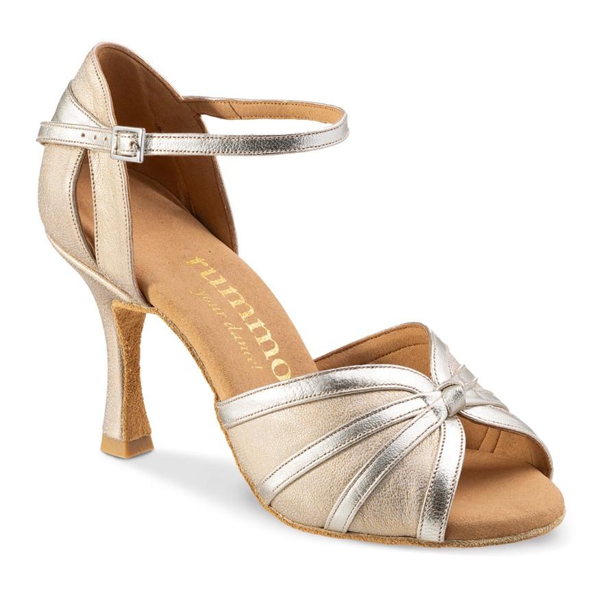 "Chaussures de danse Rummos ""Angela"" cuir opale et cuir argent"