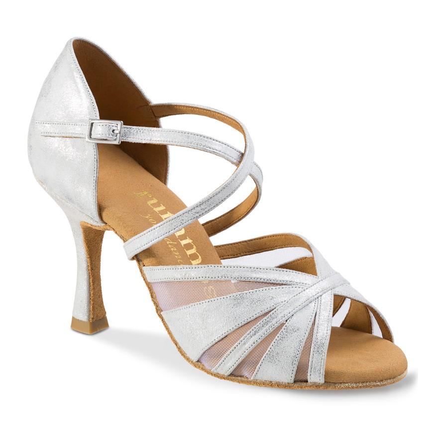 "Chaussures de danse Rummos ""Rina"" cuir argent marbré"
