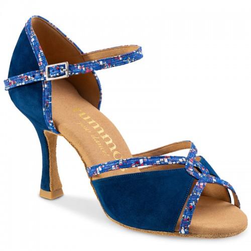 "Chaussures de danse Rummos ""Selma"" nubuck bleu"