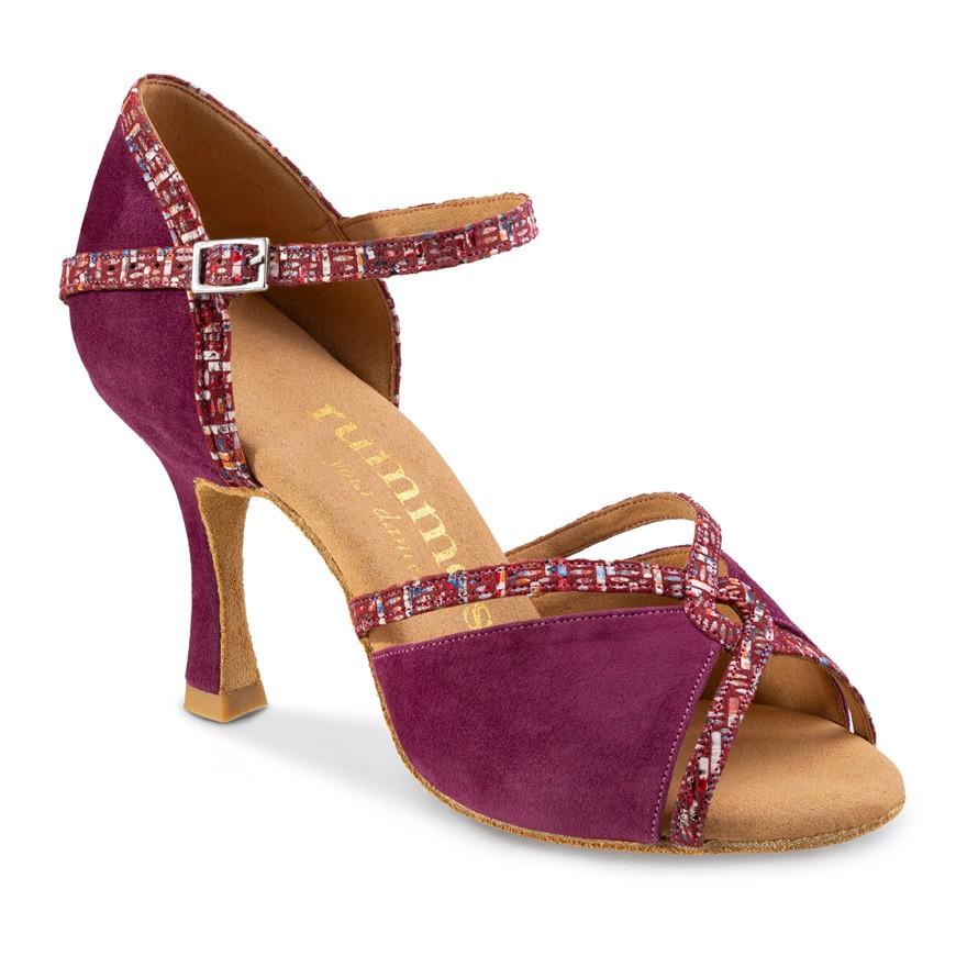 """Chaussures de danse Rummos """"Selma"""" nubuck bordeau"""