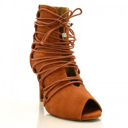 "Chaussures de danse kizomba Label Latin "" Alexa"" caramel"
