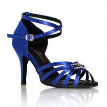 "Chaussures de danse Label Latin""On 2"" bleu royal"