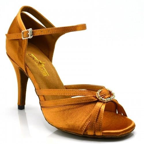 "Chaussures de danse salsa Label Latin ""Soana"" Satin noir"