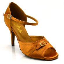 "Chaussures de danse salsa Label Latin ""Serena"" Satin tan"