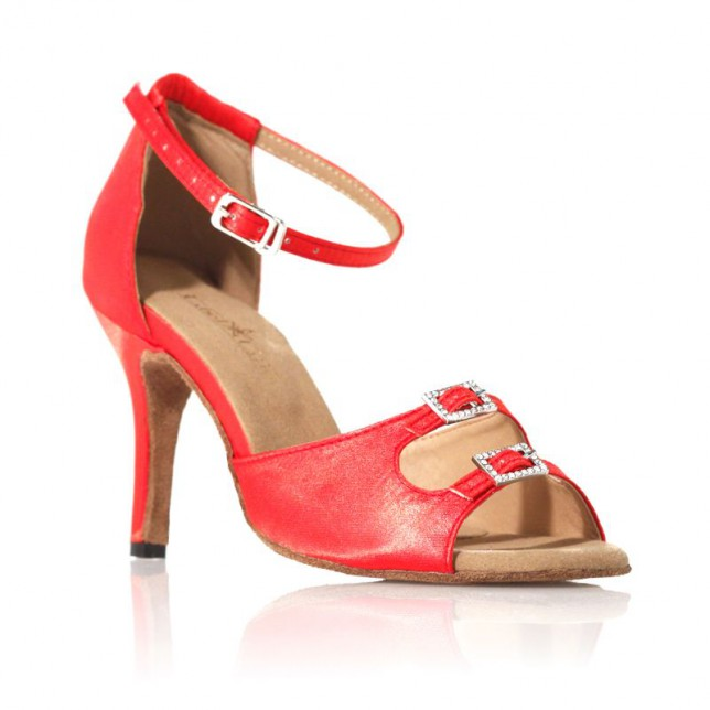 "Chaussure de danse Label Latin ""Strass"" rouge"