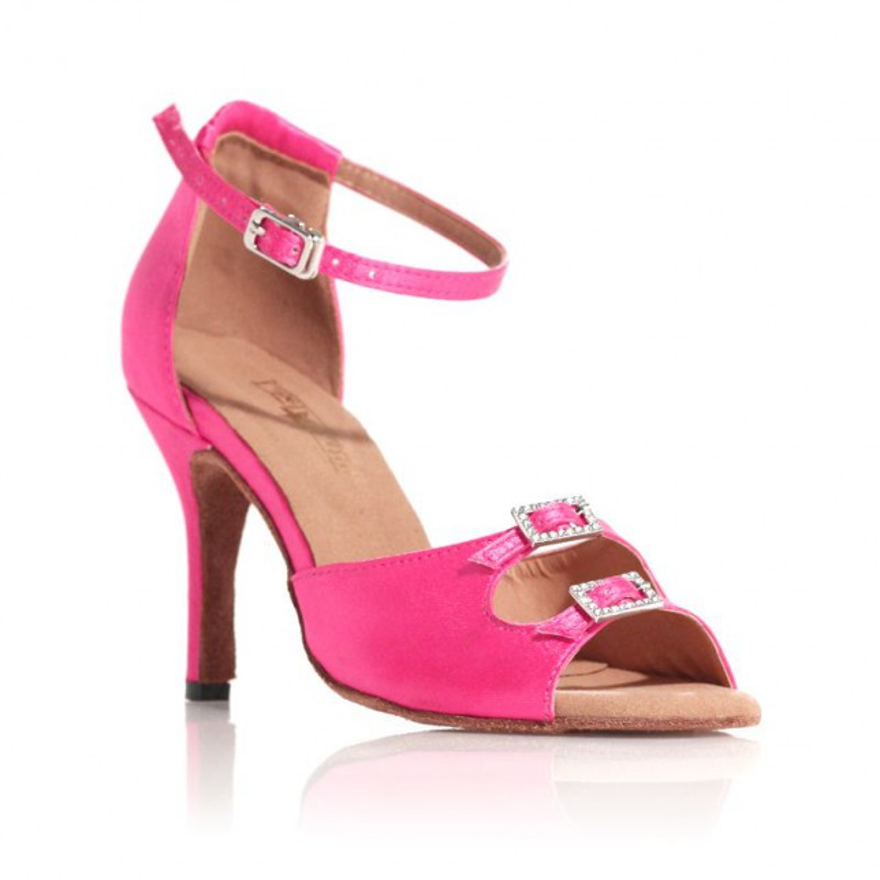 "Chaussure de danse Label Latin ""Strass"" rose bonbon"