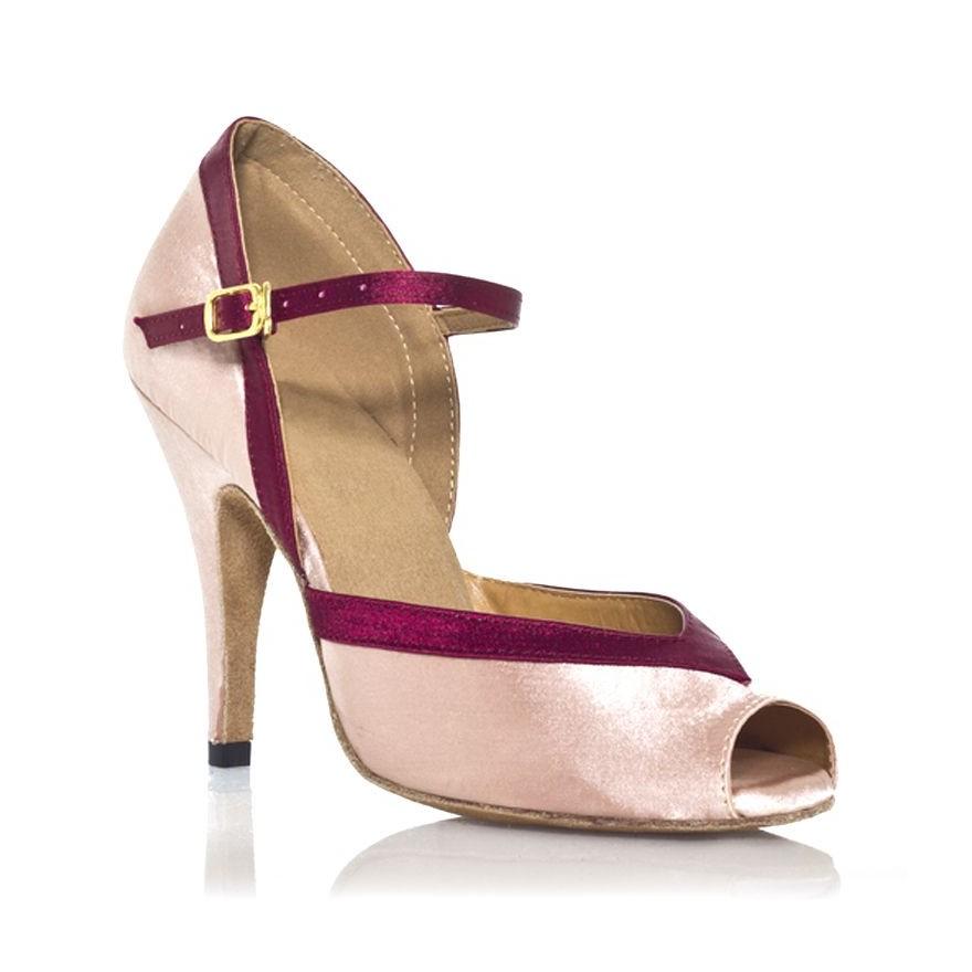 """Chaussure de danse Label Latin""""Florence"""" rose bordeau"""