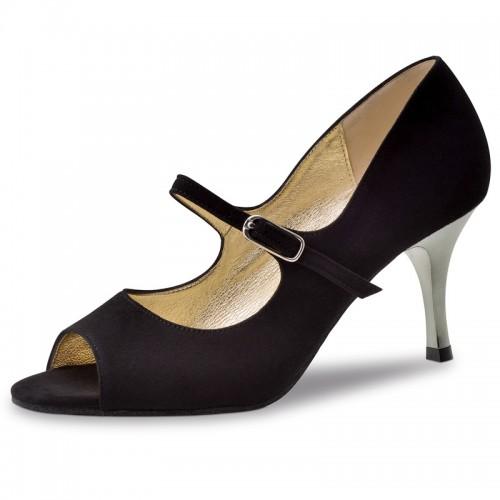 "Chaussures de danse Nueva Epoca Werner Kern ""Frida"" daim noir"