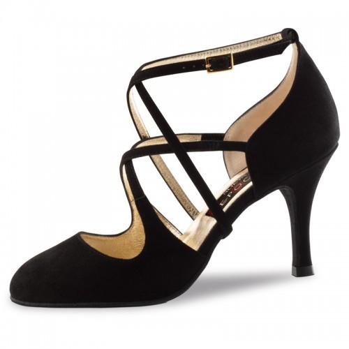 "Chaussures de danse Nueva Epoca Werner Kern ""Jaida"" daim noir"
