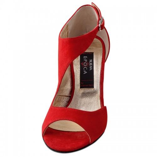 """Chaussures de danse Nueva Epoca Werner Kern """"Linea"""" daim rouge"""