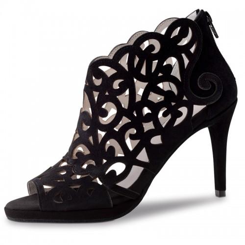 "Chaussures de danse Anna Kern ""Nicoletta"" 8 cm daim noir"