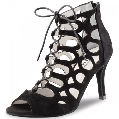"Chaussures de danse Anna Kern ""Nita"" 7,5 cm daim noir"