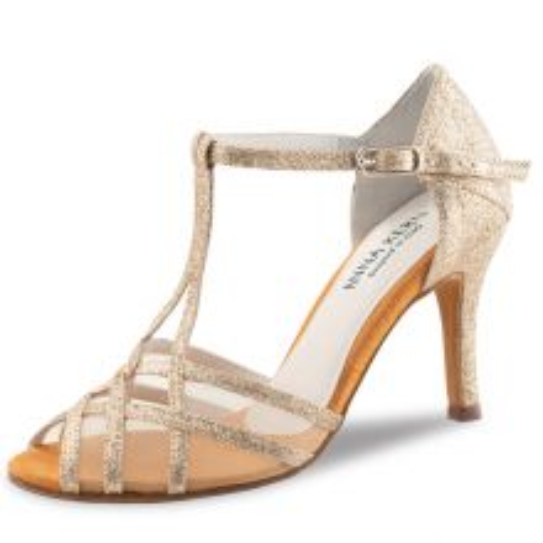 "Chaussures de danse Anna Kern ""Yuna"" 7,5 cm glitter or"