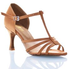 "Chaussures de danse Label Latin ""Alma"" satin tan"