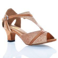 "Chaussures de danse Label Latin ""Carla"" glitter or"