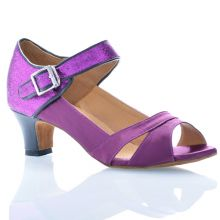 "Chaussures de danse Label Latin ""Clara"" satin violet"
