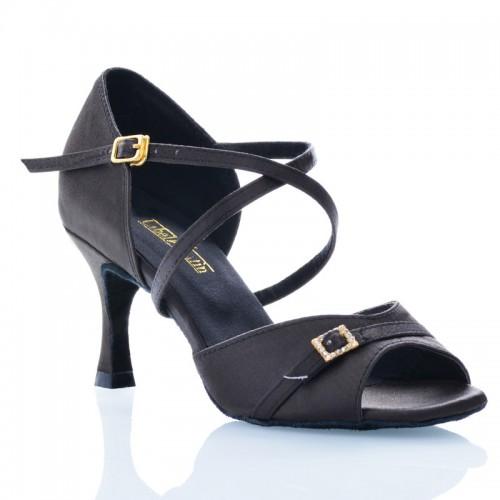 """Chaussures de danse Label Latin """"Séréna"""" satin noir"""