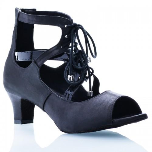 """Chaussures de danse Label Latin """"So boot"""" satin noir"""