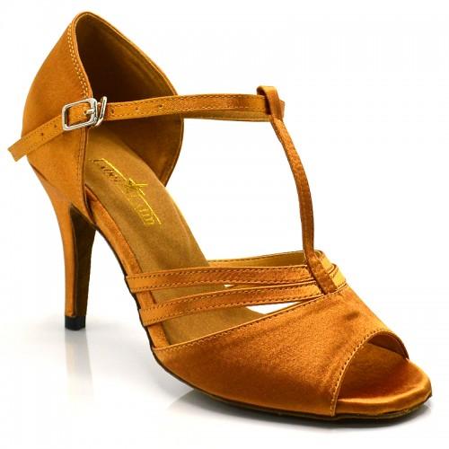 "Chaussures de danse Label Latin ""Soana"" satin noir"