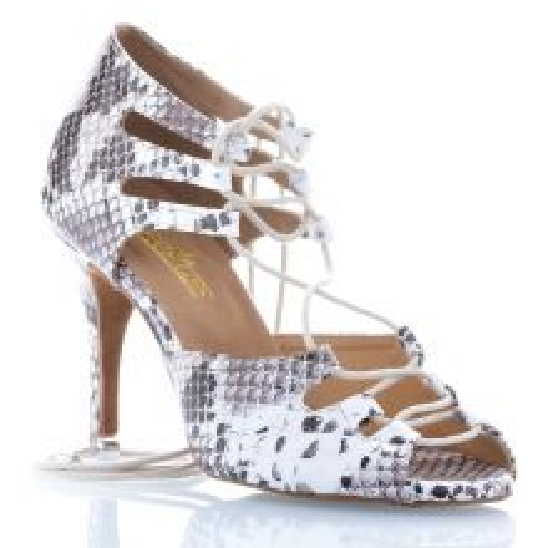 "Chaussures de danse Label Latin ""Xara"" simili cuir imprimé peau de serpent"