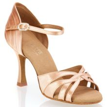 "Chaussures de danse Rummos ""Paris"" satin tan flesh"