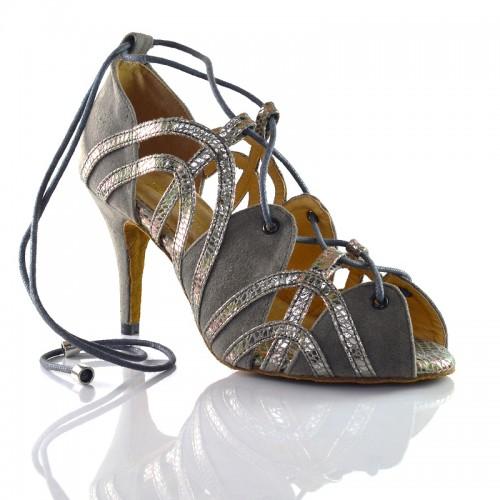 """Chaussures de danse kizomba Label Latin """" Krista argent"""""""