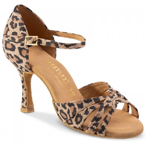 "Chaussures de danse Rummos ""Adena"" cuir imprimé léopard"