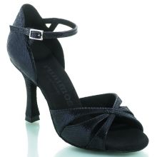 "Chaussures de danse Rummos ""Kamila"" cuir noir imitation peau de lézard"