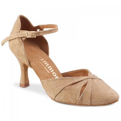 """Chaussures de danse Rummos """"Nora"""" daim noir et glitter noir"""